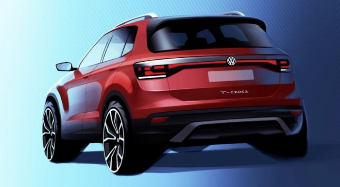 Volkswagen T-Cross показался на официальных изображениях
